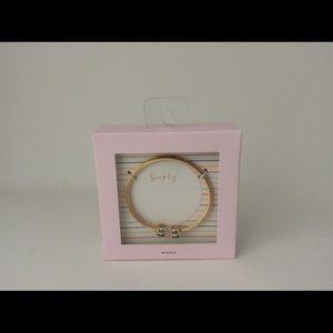 Turq cable gemstone bracelet